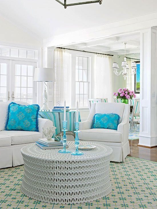 Decorating With Bright Colors Living Room Sets Furniture Blue Home Decor Home Decor