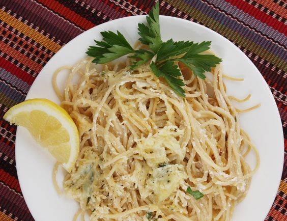 Baked Lemon Spaghetti