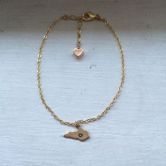 Kentucky bracelet state jewelry usa brass metal stamped for Jewelry stores in usa