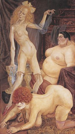 Three Wenches by Otto Dix, 1926