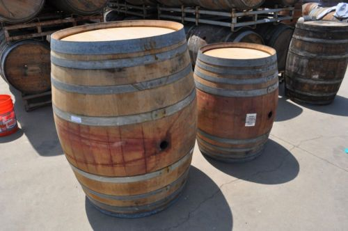 how to cut a wine barrel in half lengthwise