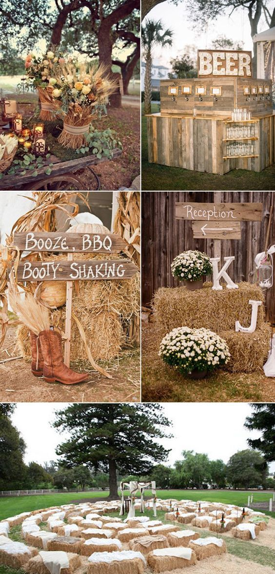 45 Most Popular Fall Wedding Ideas You Ll Fall In Love With Mrs To Be Fall Country Wedding Wedding Themes Fall Rustic Country Wedding