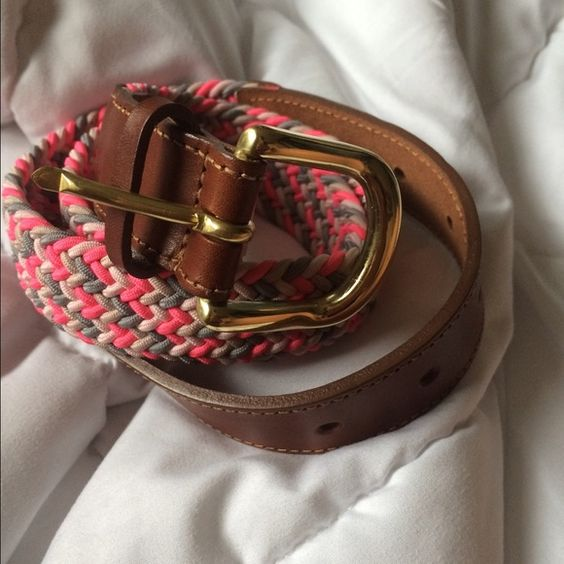 J crew pink braided belt I absolutely love this belt but it sadly doesn't fit me and I can't return it anymore. This has never been worn and is in perfect condition! J. Crew Accessories Belts