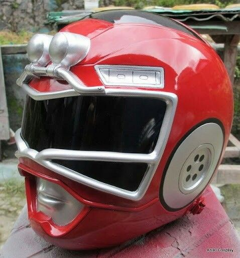 Red Turbo Ranger Helmet Red Turbo Range...