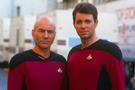 Next Gen...mmmmm Riker! Why do you have to grow a beard and hide that beautiful face!