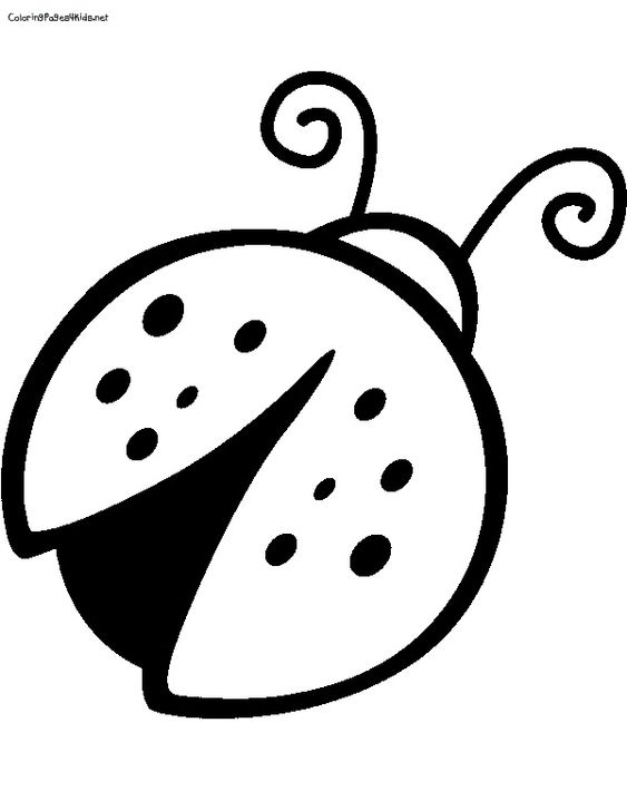 Ladybugs, Coloring pages for kids and Coloring on Pinterest