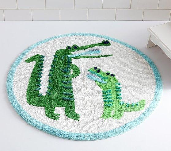 Alligator Round Bath Mat In 2020 Round Bath Mats Bath Mat Kids