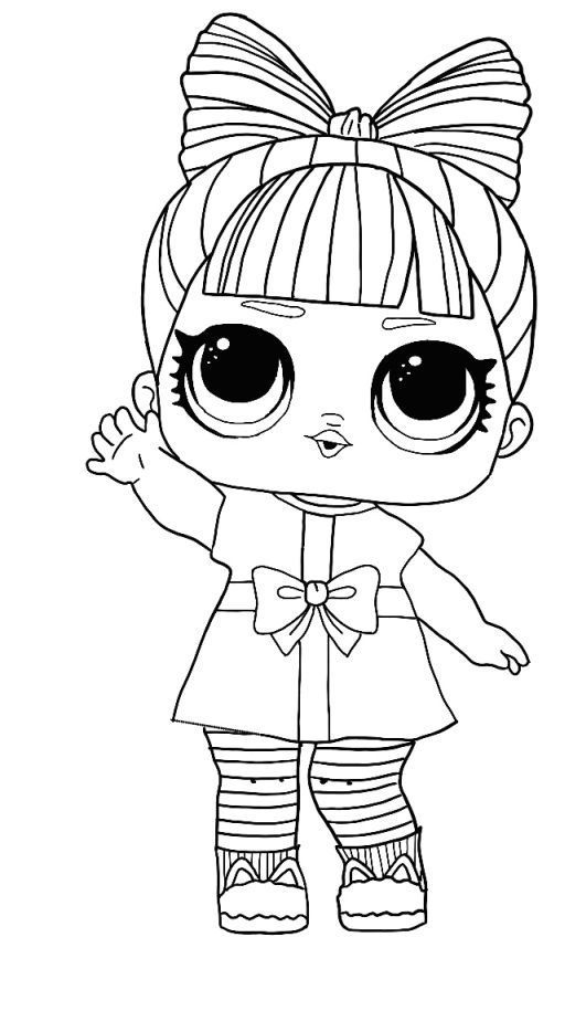 Lol Surprise Winter Disco Coloring Pages Prezzie Baby Coloring Pages Cartoon Coloring Pages Cute Coloring Pages