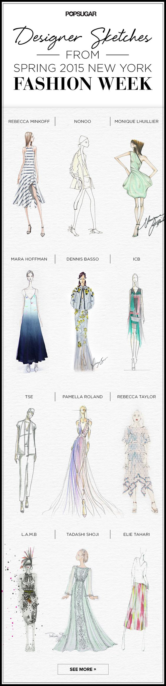 Were the runways as good as the sketches? #NYFW #FashionWeek: