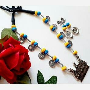 Pin By Hetal Vyas On Gotu Jewelry Junk Jewelry Thread Jewellery