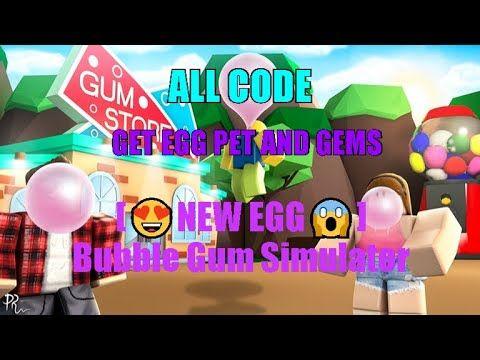 All Codes New Egg Bubble Gum Simulator