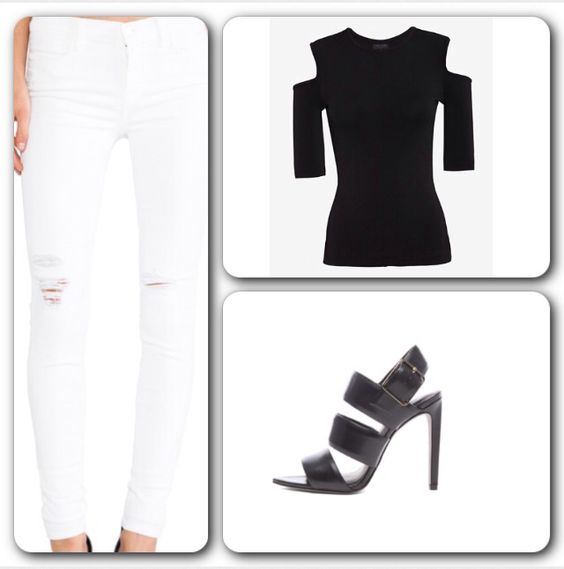 Are you ready to be Fierce today?   #Jeans - #JBrand Skinny in White Rocks, available at #RevolveClothing. #Top - #RagAndBone Michelle Cut Out Shoulder Top, available at #Intermix. #Shoes - #AlexanderWang Kerry Slingback #Leather #Sandals, available at #ForwardForward. #Fierce #blackandwhite #streetstyle #itgirl #strut #swag #glam #chic  #fabulous #skinnyjeans #distressedjeans #instafollow  #chicclassique #styleblog #classic #lookoftheday #outfit #ootd #stylist