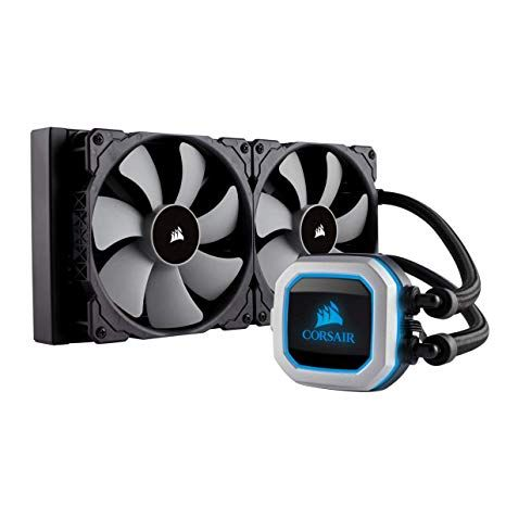 Amazon Com Corsair Hydro Series H115i Pro Rgb Aio Liquid Cpu Cooler 280mm Dual Ml140 Pwm Fans Intel 115x 2066
