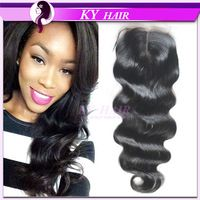6A Body Wave Closure 1Pc Wavy Virgin Indian Closure Middle Part Lace Closure Bleached Knots Human Hair Closure