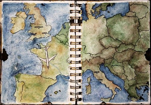 Instead of keeping a written #travel journal, keep a picture travel journal of where you've been! We love this idea from @forgetmenots