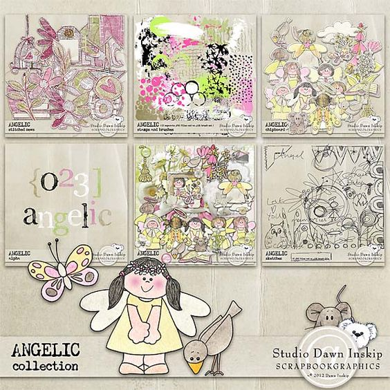 ANGELIC COLLECTION Dawn Inskip  http://shop.scrapbookgraphics.com/Angelic-Collection.html