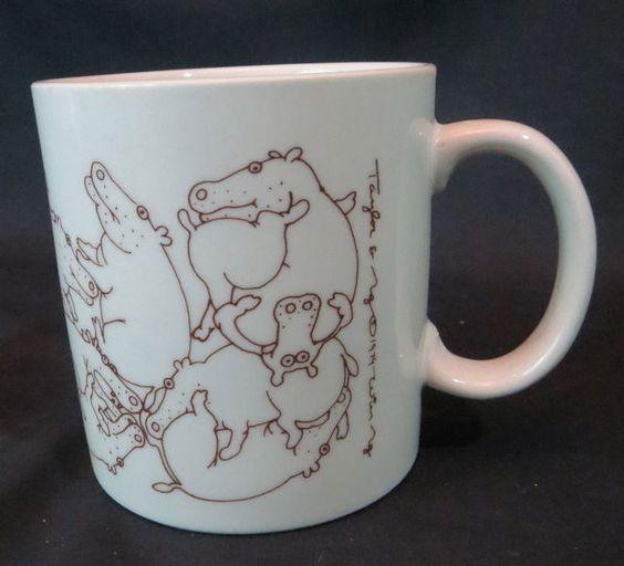 Taylor & Ng Hippo Orgy Mug Cup Hippos 1979 VTG #TaylorNg