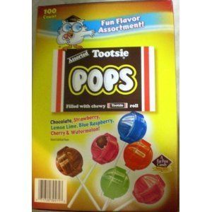 Tootsie Pops Fun Flavor Assortment 100 pops by Tootsie