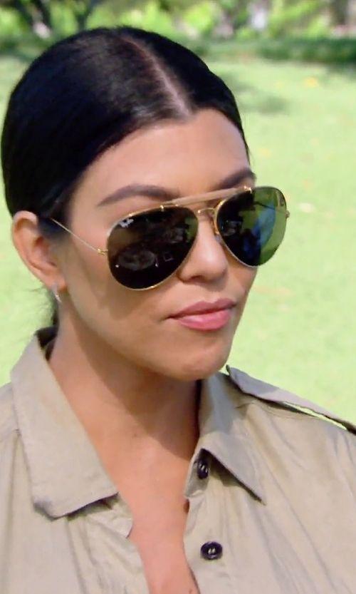 Ray-Ban Outdoorsman II Sunglasses as seen on Kourtney Kardashian in Keeping Up With The Kardashians | TheTake.com