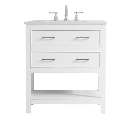 Clemens Single Sink Vanity 24 30 Pottery Barn In 2020 Single Bathroom Vanity 30 Inch Bathroom Vanity Single Sink Vanity