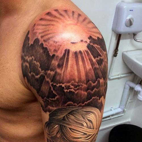 Gunes Dovmeleri Sun Tattoos 11 Inspiring Ideas Tattoo Mens Shoulder Tattoo Shoulder Tattoo Shoulder Cap Tattoo