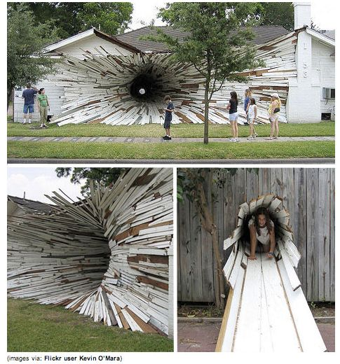 inverted house