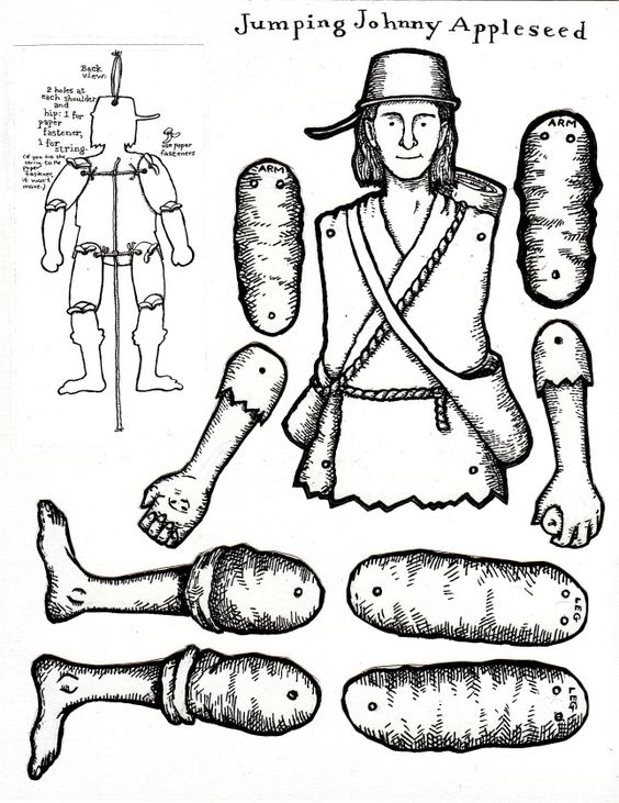Lynne Rae Perkins Coloring Pages Vintage Paper Dolls Johnny Appleseed Activities