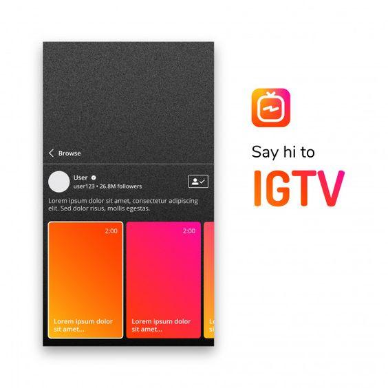 Igtv post template Premium Vector | Premium Vector #Freepik #vector #logo #template #social-media #instagram