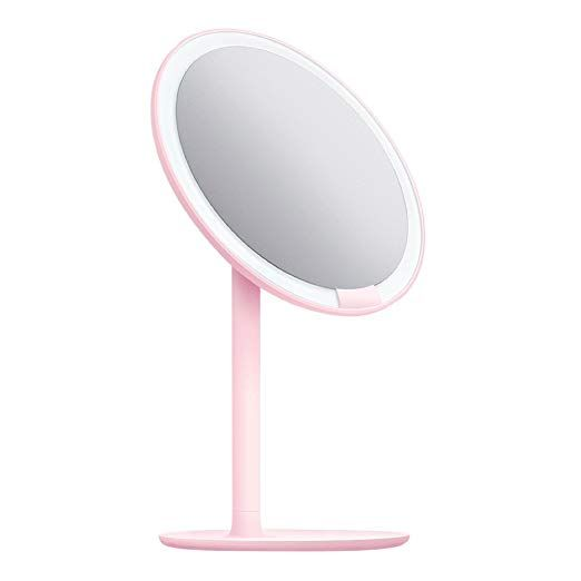 Amiro Lighted Makeup Mirror With Natural Daylight Led Lights Adjustable Brightness Rechargeable And Cordless High Definition Countertop Vanity Mirr Makeup Mirror With Lights Makeup Mirror Mirror