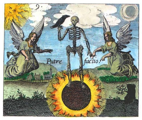 In alchemy, nigredo, or blackness, means putrefaction or decomposition.  Many alchemists believed that as a first step in… | Alchemy art, Occult  art, Alchemy symbols