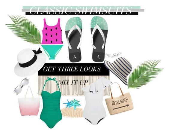 Classic Swimsuits by ms-jade-1 on Polyvore featuring Lisa Marie Fernandez, Heidi Klein, Style & Co., South Beach, Boohoo, Fat Face, Yves Saint Laurent, GetTheLook, Swimsuits and Ms_jade. Find the mint Green Dots and Spots Sandals at (www.zazzle.com/Ms_Jade*)