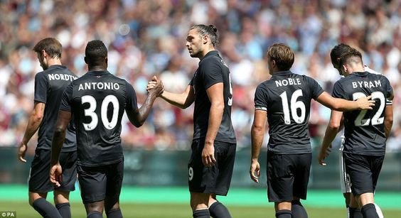 Andy Carroll scored two goals as he showed he's ready to hit the ground running for the new Premier League season
