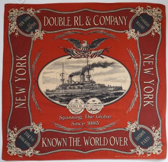 NWOT RALPH LAUREN RRL DOUBLE RL 100% Cotton Scarf Bandana Handkerchief: