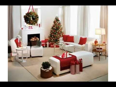 32) Decoracion de sala pequeña para navidad , YouTube