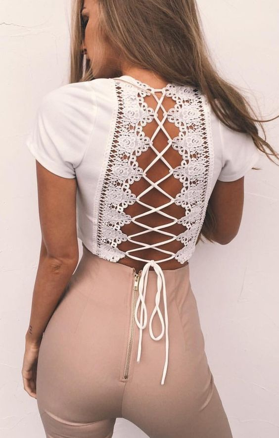 Stylish Lace Up Clothes