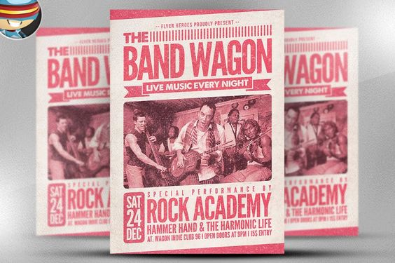 retro-band-flyer-template-psd 20+ Band Flyer Template PSD for - band flyer template