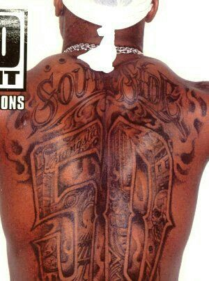 50 cent tattoos, 50 cent back tattoo, 50 cent tattoos removed ...