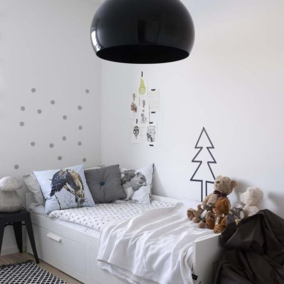 Ikea Brimnes bed with storage in a kid's room IKEA inspiration Pinterest Christmas trees