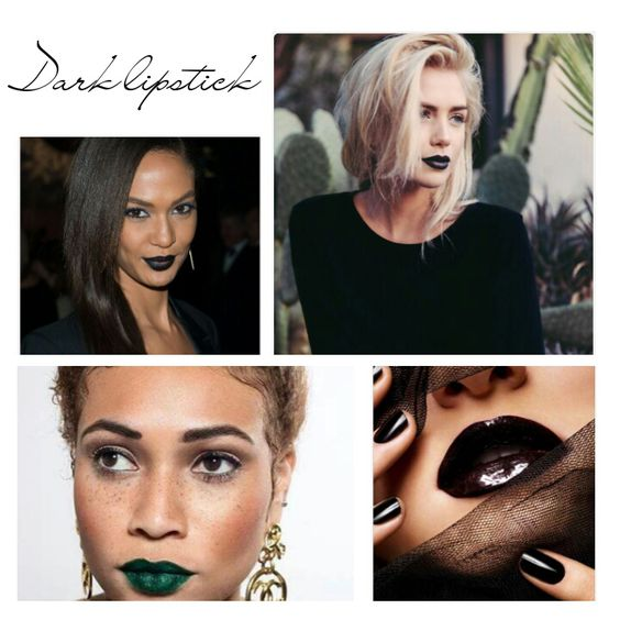 Foto inspiratie: donkere lipstick