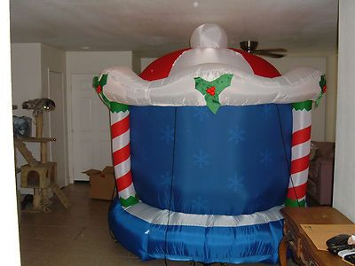 Gemmy Airblown Inflatable Rotating Carousel with Music Box Huge 8ft | eBay