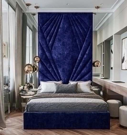 70 Beds Suspended In Modern Designs To Inspire You With Images Blue Bedroom Decor Modern Bedroom Design Contemporary Bedroom Inspiration