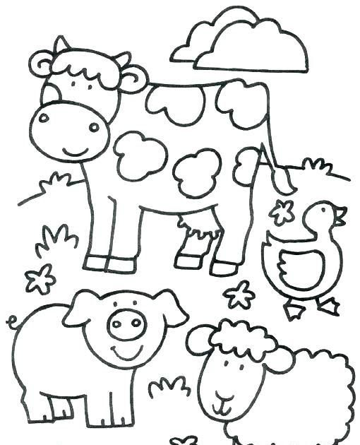 Image Result For Farm Animal Coloring Pages For Toddlers Free Printable Farm Animal Coloring Pages For Kids Farm Coloring Buku Mewarnai Binatang Pola Sulam