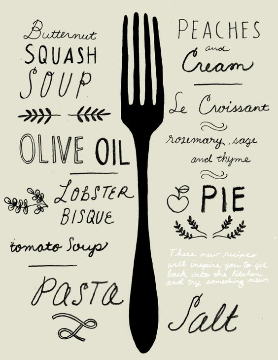 Food and type, two of our favorite things! Illustration by Chris Silas Neal.
