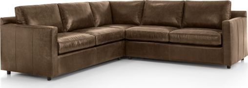 Barrett Leather Sectional Sofas Crate And Barrel Leather Sofa Furniture Leather Sectional Sofas Sectional