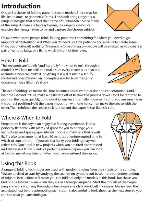 Halloween Origami By: Nick Robinson - from Dover Publications - INTRODUCTION  1