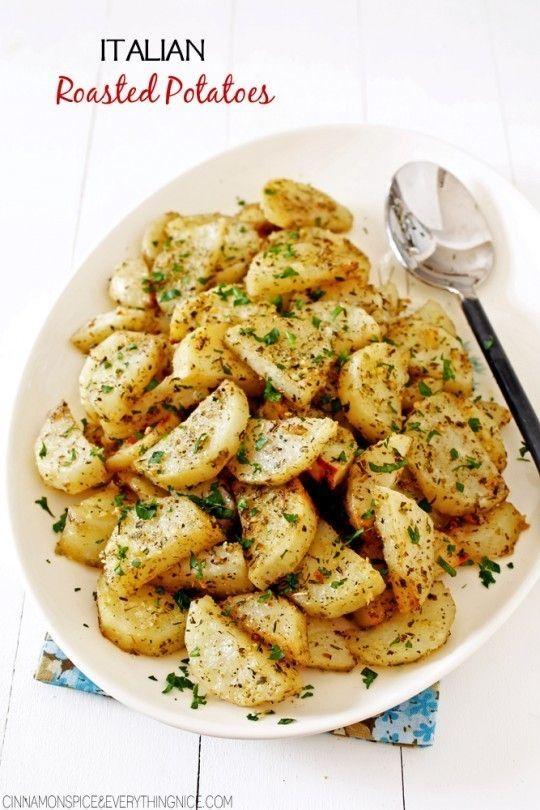 Italian Roasted Garlic Parmesan Potatoes Vegetable Recipes Recipes Dinner Recipes
