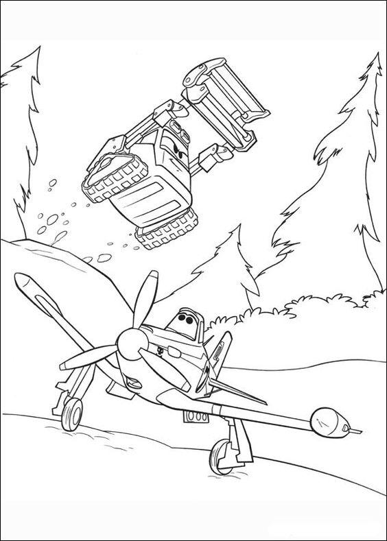Desenhos para pintar Aviões 55