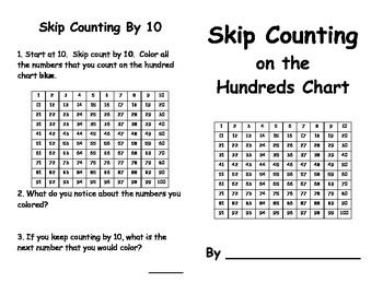 skip counting on the hundred chart book by 2 hundreds chart and student. Black Bedroom Furniture Sets. Home Design Ideas