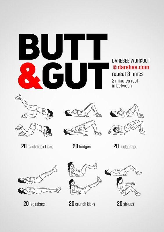 Butt amp Gut Workout By DAREBEE darebee workout fitness Fitness Pinterest