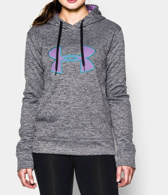 Women's UA Big Logo Applique Twist Hoodie | Under Armour US